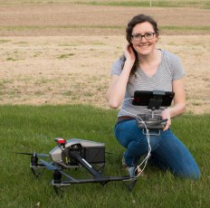 Laura with drone